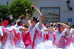 Εφηβικοί Flamenco χορευτές, Marbella Στοκ εικόνα με δικαίωμα ελεύθερης χρήσης