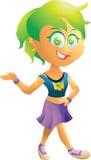 Εφηβικός βράχος - και - κορίτσι ρόλων Στοκ εικόνα με δικαίωμα ελεύθερης χρήσης