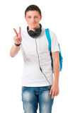 Εφηβικό αγόρι σπουδαστών Στοκ φωτογραφία με δικαίωμα ελεύθερης χρήσης