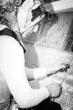 Εφηβικό κορίτσι εργασίας Στοκ Φωτογραφία