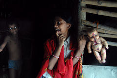 εφηβικό κορίτσι Ινδία αγρ&omi Στοκ φωτογραφία με δικαίωμα ελεύθερης χρήσης