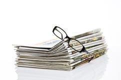 εφημερίδα γυαλιών Στοκ Εικόνες