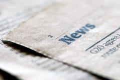 εφημερίδα ειδήσεων Στοκ φωτογραφίες με δικαίωμα ελεύθερης χρήσης
