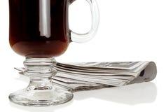 εφημερίδα καφέ Στοκ Φωτογραφία