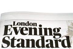 Εφημερίδα του Λονδίνου Evening Standard στοκ φωτογραφίες