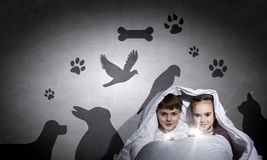 Εφιάλτες παιδιών Στοκ εικόνα με δικαίωμα ελεύθερης χρήσης