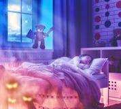 Εφιάλτης για τα παιδιά Στοκ φωτογραφία με δικαίωμα ελεύθερης χρήσης