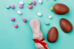 Εύγευστα αυγά και κουνέλι Πάσχας Στοκ Φωτογραφία