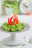 Εύγευστα διάφορα τρόφιμα δάχτυλων με τα φρέσκα συστατικά για το πρόχειρο φαγητό Στοκ φωτογραφίες με δικαίωμα ελεύθερης χρήσης