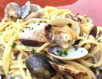 Εύγευστα ιταλικά ζυμαρικά για το μεσημεριανό γεύμα Στοκ εικόνες με δικαίωμα ελεύθερης χρήσης