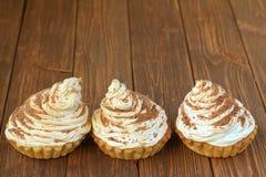 Εύγευστα κέικ κρέμας Στοκ Φωτογραφία