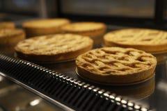 Εύγευστα κέικ σε μια βιομηχανία ζαχαρωδών προϊόντων Στοκ Εικόνα