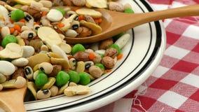 Εύγευστα και υγιή φυσικά τρόφιμα μιγμάτων οσπρίων φιλμ μικρού μήκους