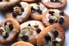 Εύγευστα μπισκότα ψωμιού πιπεροριζών που προετοιμάζονται για τα Χριστούγεννα Στοκ Εικόνα