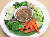 Εύγευστα πικάντικα ταϊλανδικά τρόφιμα Στοκ φωτογραφία με δικαίωμα ελεύθερης χρήσης