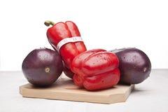 εύγευστα πιπέρια μελιτζ&al Στοκ φωτογραφίες με δικαίωμα ελεύθερης χρήσης