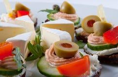 εύγευστα πρόχειρα φαγητά Στοκ Φωτογραφίες
