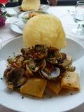 Εύγευστα σαρδηνιακά ζυμαρικά botarga Στοκ Φωτογραφία