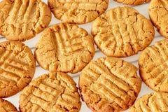 Εύγευστα σπιτικά μπισκότα φυστικοβουτύρου στην ψύξη του ραφιού σειρά τροφίμων μπισκότων ανασκόπησης υγιές πρόχειρο φαγητό έννοιας Στοκ φωτογραφία με δικαίωμα ελεύθερης χρήσης