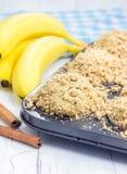 Εύγευστα σπιτικά muffins μπανανών κανέλας Στοκ Φωτογραφία