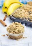 Εύγευστα σπιτικά muffins μπανανών κανέλας Στοκ φωτογραφία με δικαίωμα ελεύθερης χρήσης