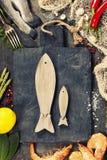 Εύγευστα φρέσκα ψάρια και θαλασσινά στοκ φωτογραφία