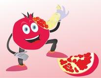 Εύγευστα φρούτα γρανατών διανυσματική απεικόνιση