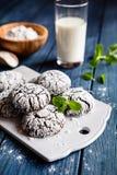 Εύγευστα crinkles σοκολάτας στοκ εικόνα με δικαίωμα ελεύθερης χρήσης