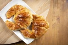 Εύγευστα croissants για το πρόγευμα Στοκ εικόνα με δικαίωμα ελεύθερης χρήσης