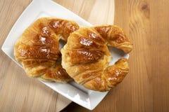 Εύγευστα croissants για το πρόγευμα Στοκ φωτογραφία με δικαίωμα ελεύθερης χρήσης