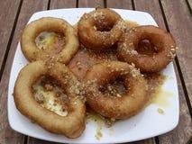 Εύγευστα Doughnuts Λέσβος Ελλάδα Στοκ φωτογραφία με δικαίωμα ελεύθερης χρήσης