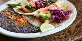 εύγευστα tacos ψαριών Στοκ φωτογραφία με δικαίωμα ελεύθερης χρήσης