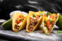 εύγευστα tacos Στοκ Εικόνα