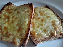 Τυρί στη φρυγανιά στοκ εικόνες με δικαίωμα ελεύθερης χρήσης