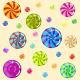 Εύγευστες λαμπρές καραμέλες χρωματισμένη ζελατίνα φασ&o Διανυσματική απεικόνιση
