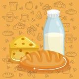 Εύγευστες επιλογές γρήγορου φαγητού απεικόνιση αποθεμάτων