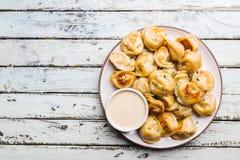 Εύγευστες τηγανισμένες μπουλέττες στοκ εικόνα