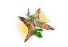 Εύγευστες φρέσκες γαρίδες Στοκ Εικόνες