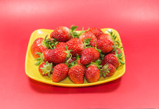 Εύγευστες ώριμες φράουλες στοκ εικόνα με δικαίωμα ελεύθερης χρήσης