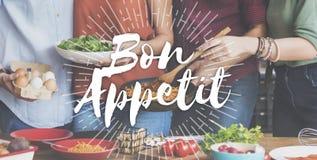Εύγευστη έννοια γεύματος τροφίμων Appetit Bon Στοκ Φωτογραφία