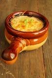 Γαλλική σούπα κρεμμυδιών στοκ εικόνα με δικαίωμα ελεύθερης χρήσης