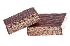 εύγευστη γκοφρέτα σοκολάτας Στοκ Εικόνα
