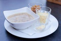 Εύγευστη διάσημη τσεχική σούπα σκόρδου Στοκ εικόνα με δικαίωμα ελεύθερης χρήσης
