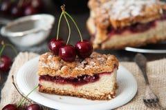 Εύγευστη και φρέσκια πίτα κερασιών Στοκ φωτογραφίες με δικαίωμα ελεύθερης χρήσης
