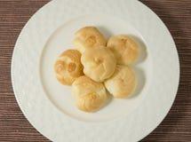 Εύγευστη κρέμα Choux που γεμίζουν με Mousse την κρέμα Στοκ φωτογραφίες με δικαίωμα ελεύθερης χρήσης