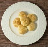 Εύγευστη κρέμα Choux που γεμίζουν με Mousse την κρέμα Στοκ Εικόνες