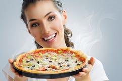 Εύγευστη πίτσα Στοκ Εικόνα