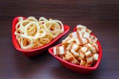 εύγευστη πατάτα τσιπ Στοκ φωτογραφία με δικαίωμα ελεύθερης χρήσης