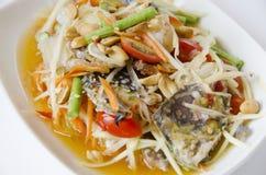 Εύγευστη σαλάτα καβουριών της Ταϊλάνδης Στοκ φωτογραφίες με δικαίωμα ελεύθερης χρήσης