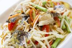 Εύγευστη σαλάτα καβουριών της Ταϊλάνδης Στοκ Εικόνες